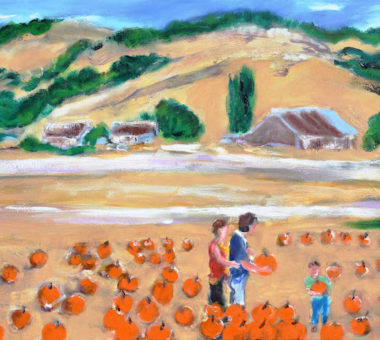 Picking a Pumpkin, Nicasio